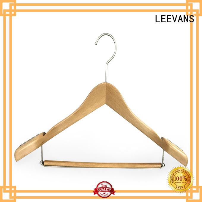LEEVANS online wooden pants hangers supplier for trouser