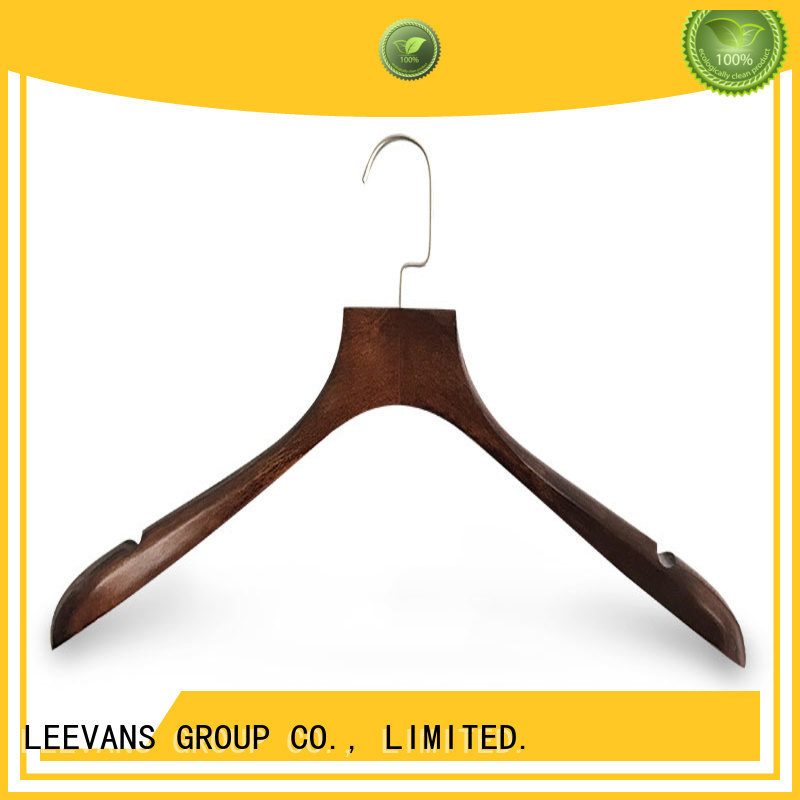 LEEVANS sales personalized wooden hangers company for skirt