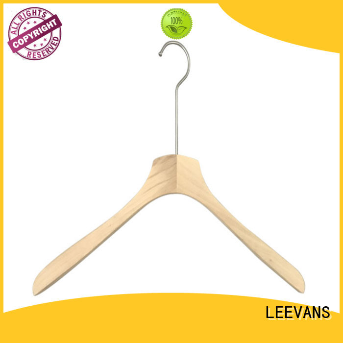 LEEVANS Custom wooden baby clothes hangers manufacturers for kids