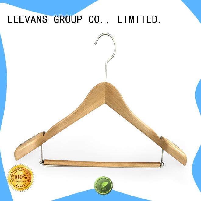 LEEVANS clips childrens wooden hangers Supply for skirt