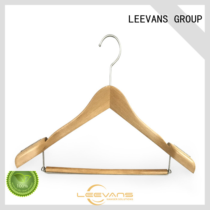 High-quality wooden trouser hanger thin Supply for skirt