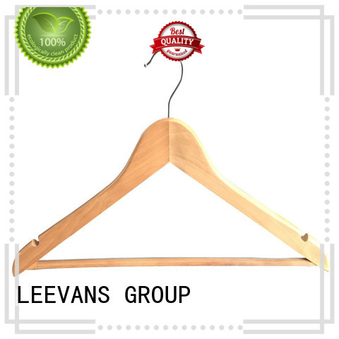 LEEVANS shape dark wood coat hangers factory for kids
