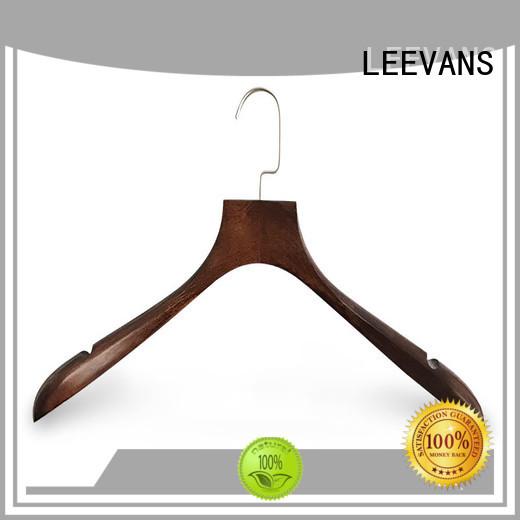 LEEVANS directly white wooden coat hangers for business for skirt