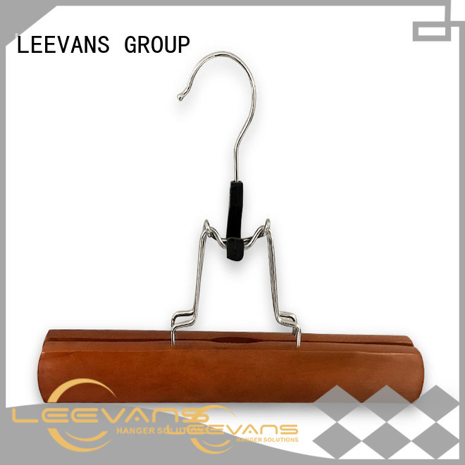 LEEVANS plywood brown wooden hangers manufacturers for children
