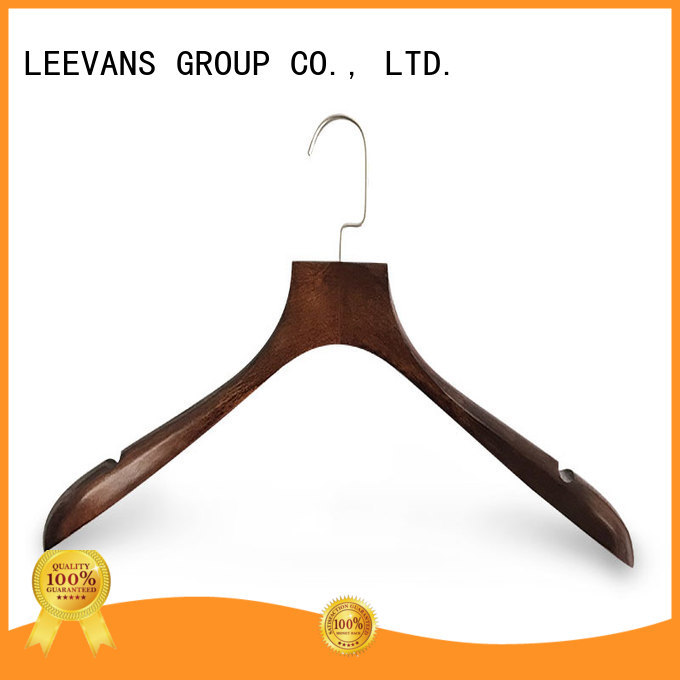 LEEVANS hotel wooden coat hangers wholesale manufacturer for pants
