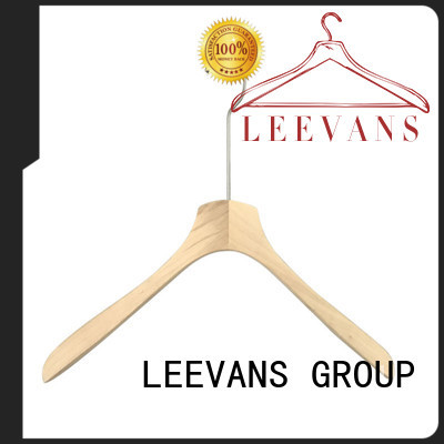 fashion dark brown wooden hangers supplier for skirt LEEVANS