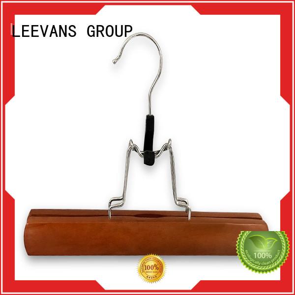 custom kids wooden hangers with metal hook for skirt