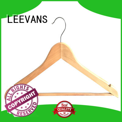 LEEVANS hot sale wooden hanger clips wholesale for pants