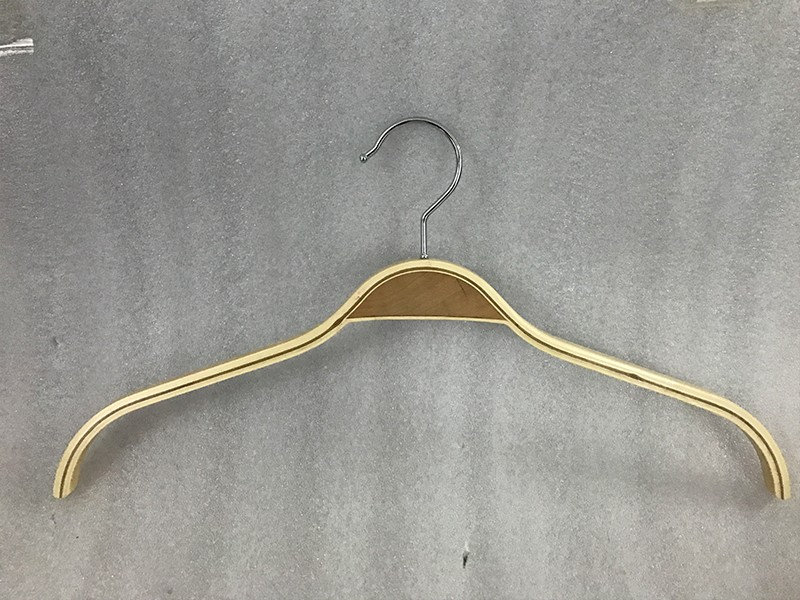 LEEVANS High-quality wooden trouser hangers with clips factory for skirt-2