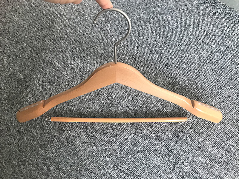 hotel wooden trouser hanger manufacturer for trouser