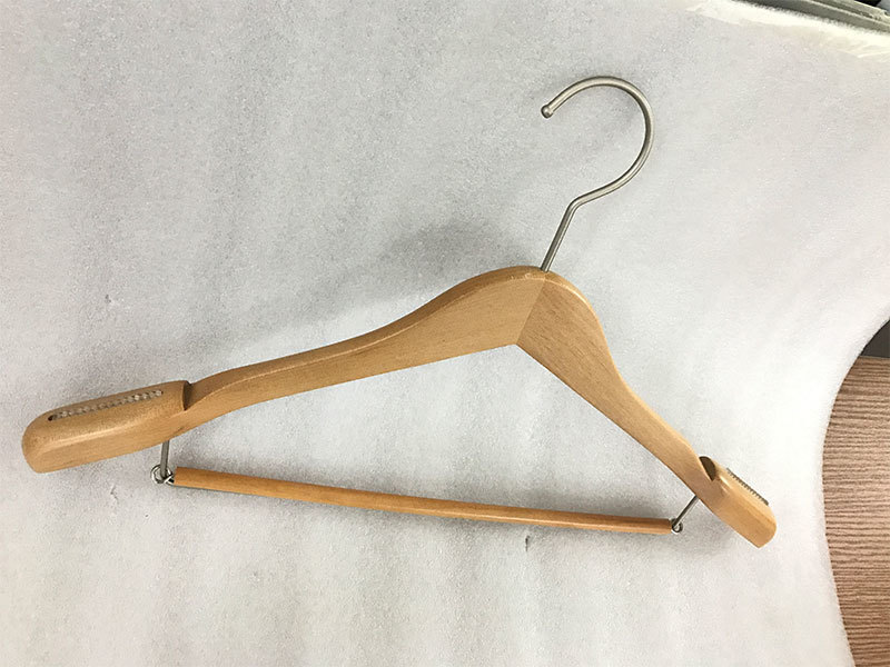 pant wooden coat hanger covered for skirt LEEVANS