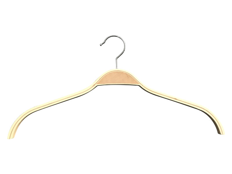 LEEVANS High-quality wooden trouser hangers with clips factory for skirt-1