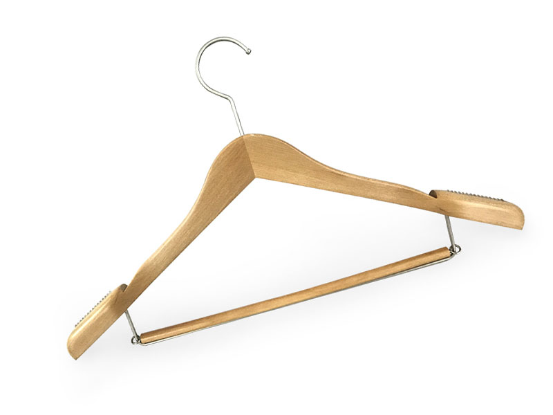 product-LEEVANS-pant wooden coat hanger covered for skirt LEEVANS-img