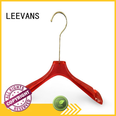 LEEVANS acrylic acrylic hanger supplier for suits