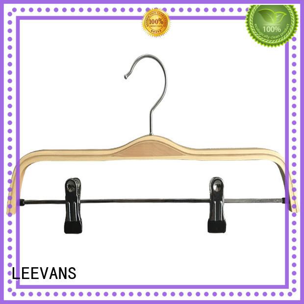 LEEVANS custom wooden trouser hanger laminate for kids