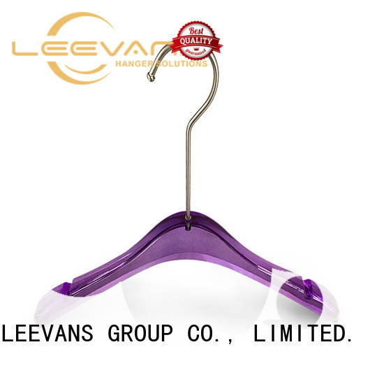 luxurious acrylic hangers wholesale clothes for jackets LEEVANS