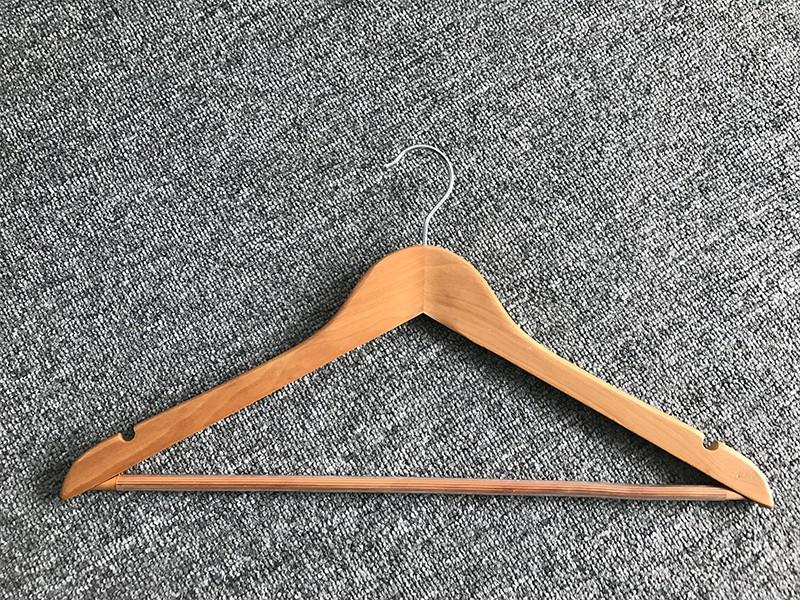 Best wooden suit hangers wholesale free company for trouser-2