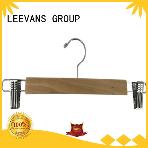 LEEVANS natural mens suit hangers for business for clothes