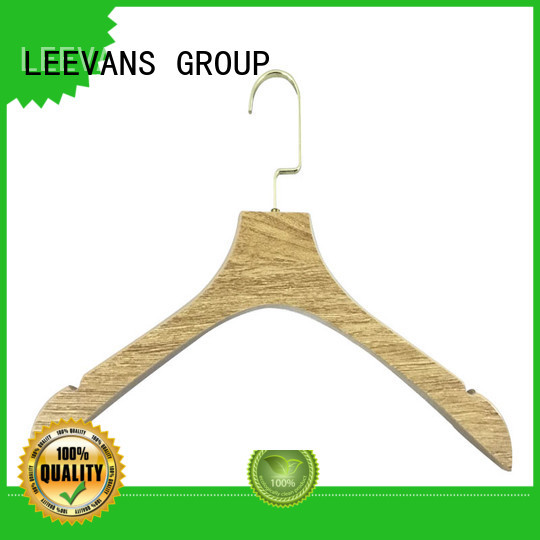 luxury wooden cloth hanger hangers for trouser LEEVANS