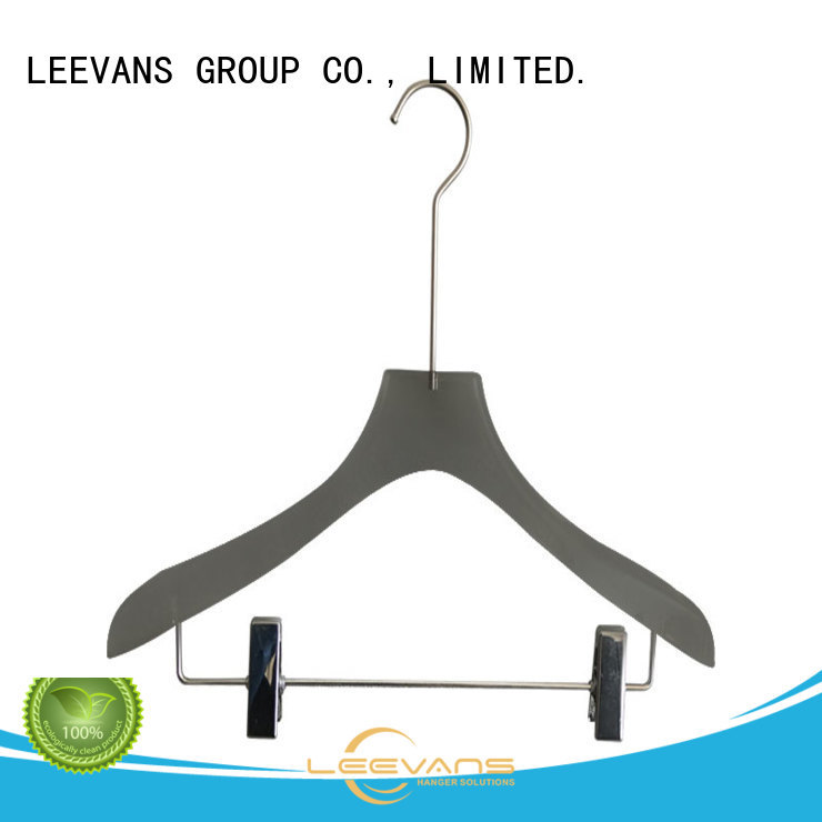 hot sale clothes hangers with clips coat with wide shoulder for casuals