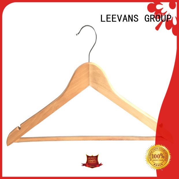 Best wooden suit hangers wholesale free company for trouser