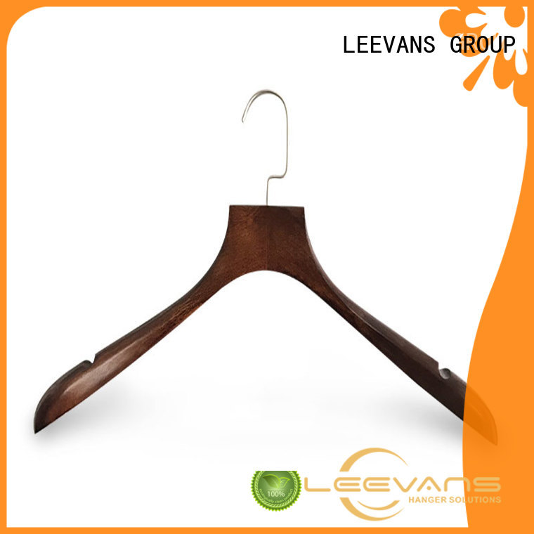 LEEVANS fashion threshold wooden hangers supplier for skirt