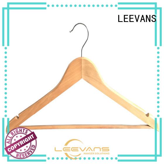 LEEVANS High-quality dark brown wooden hangers Supply for skirt
