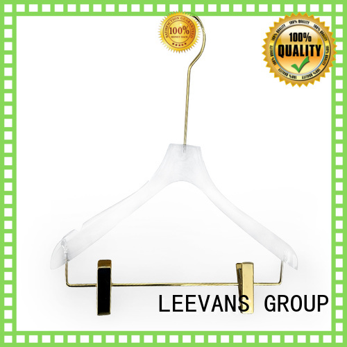 LEEVANS oem clear acrylic hangers wholesale for suits