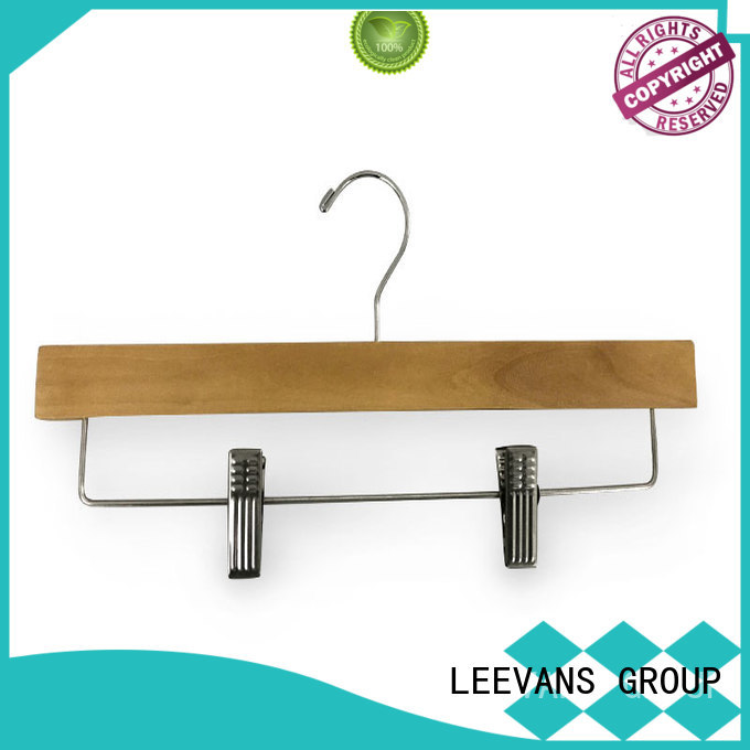 LEEVANS online black wooden hangers wholesale manufacturer for trouser