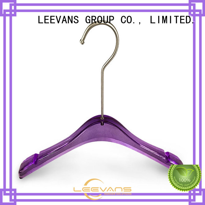 LEEVANS Custom acrylic coat hangers company for T-shirts