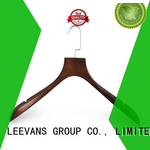 LEEVANS New dark wood hangers factory for skirt