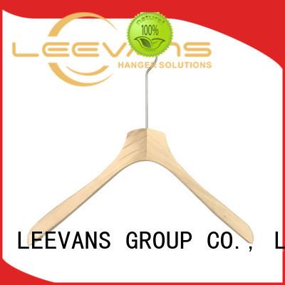 LEEVANS brown dark wood hangers factory for trouser