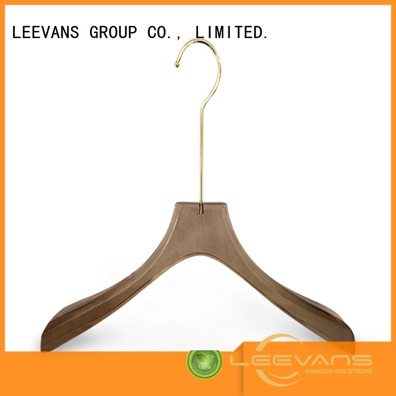 oem custom hangers with logo supplier for jackets LEEVANS