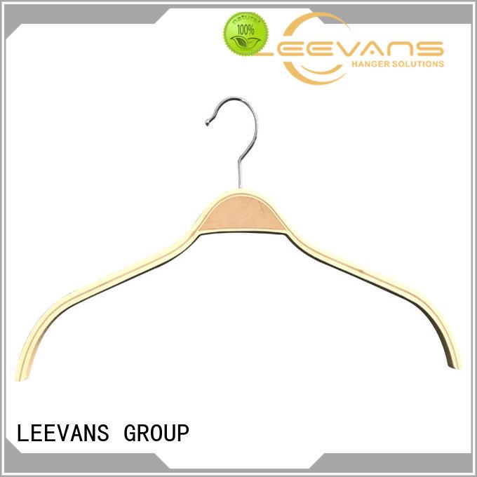 LEEVANS Top black wooden coat hangers Supply for skirt