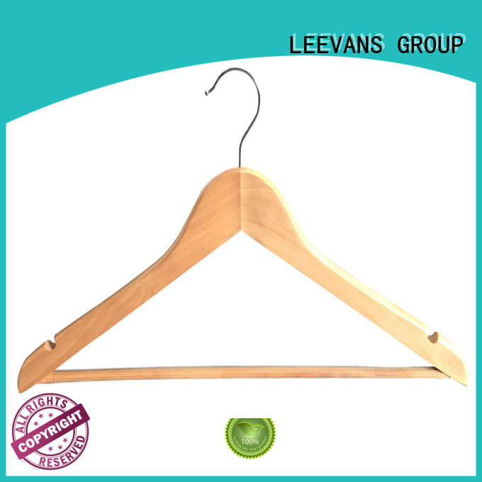 LEEVANS hot sale wooden cloth hanger wholesale for kids