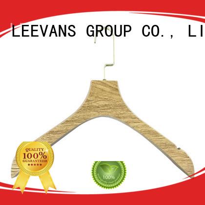 LEEVANS garment wooden hangers wholesale manufacturer for trouser