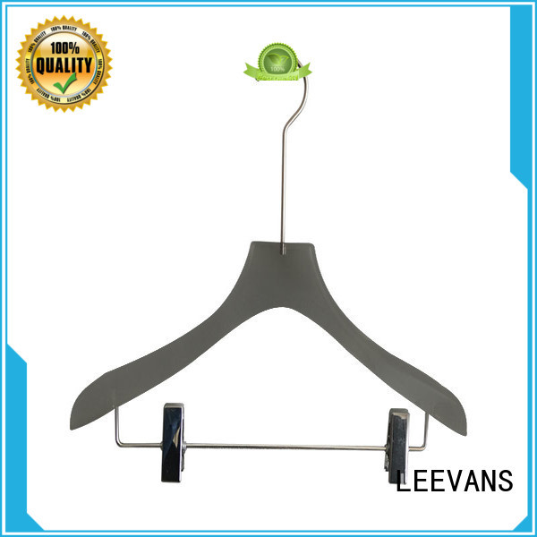 LEEVANS hot sale acrylic clothes hangers with wide shoulder for suits