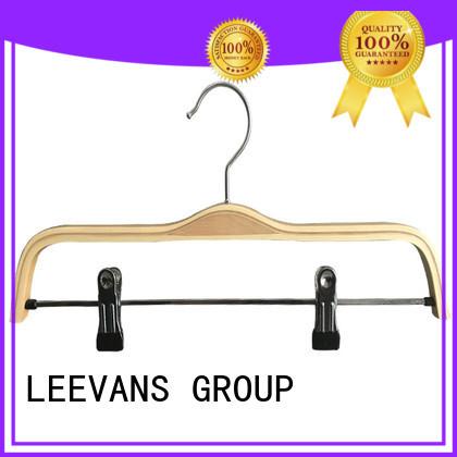 LEEVANS price wooden suit hangers with metal hook for kids