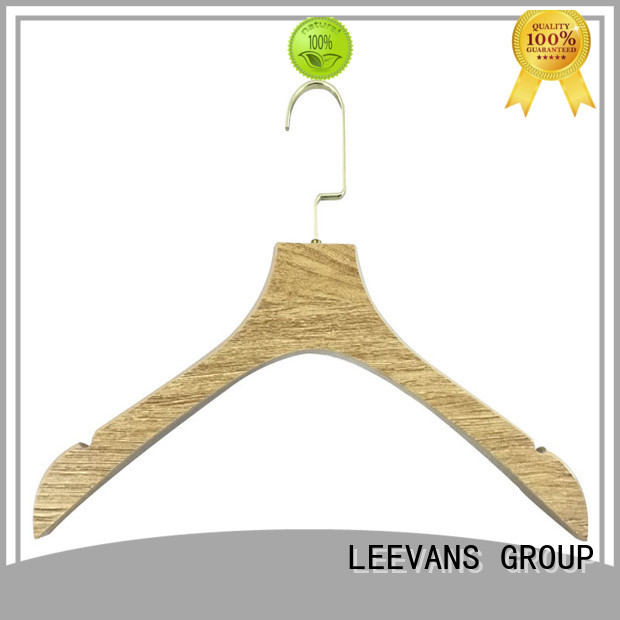 LEEVANS adjustable wooden pants hangers with clips for business for trouser