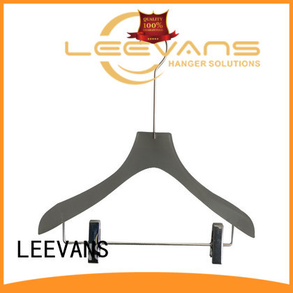 LEEVANS shop clear acrylic hangers with wide shoulder for T-shirts