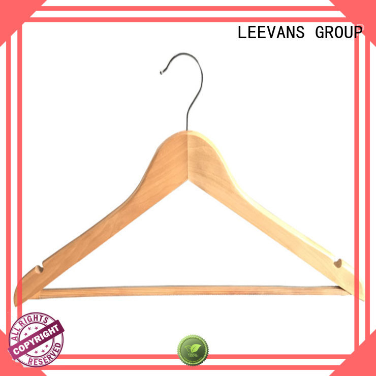 LEEVANS Wholesale light wood hangers factory for pants