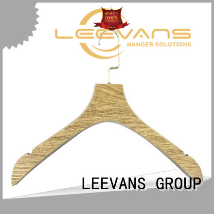 LEEVANS Latest wood clothes hangers wholesale company for clothes
