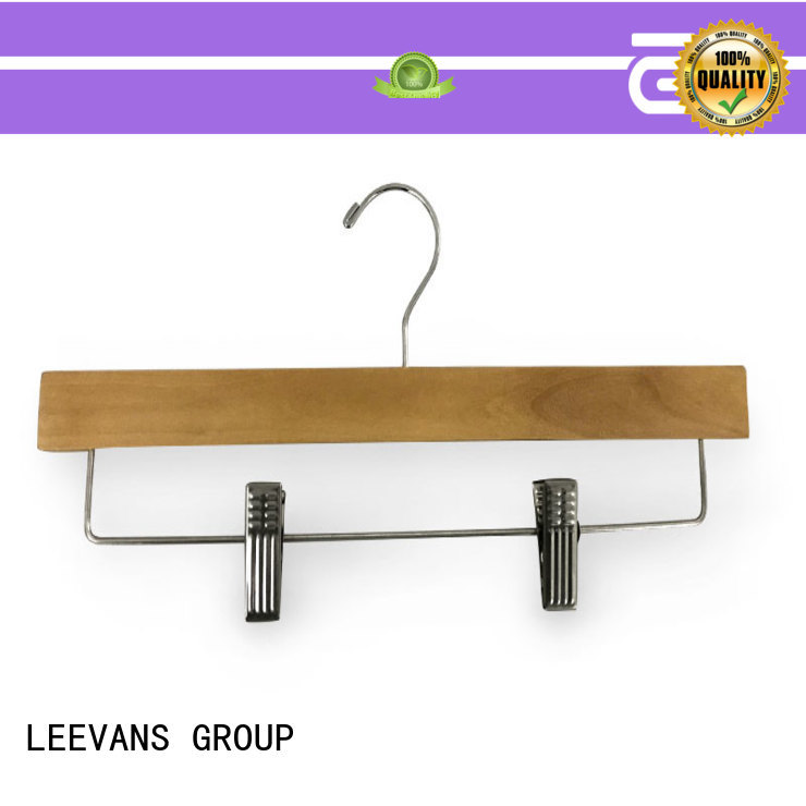 LEEVANS black wooden hangers wholesale surface for skirt