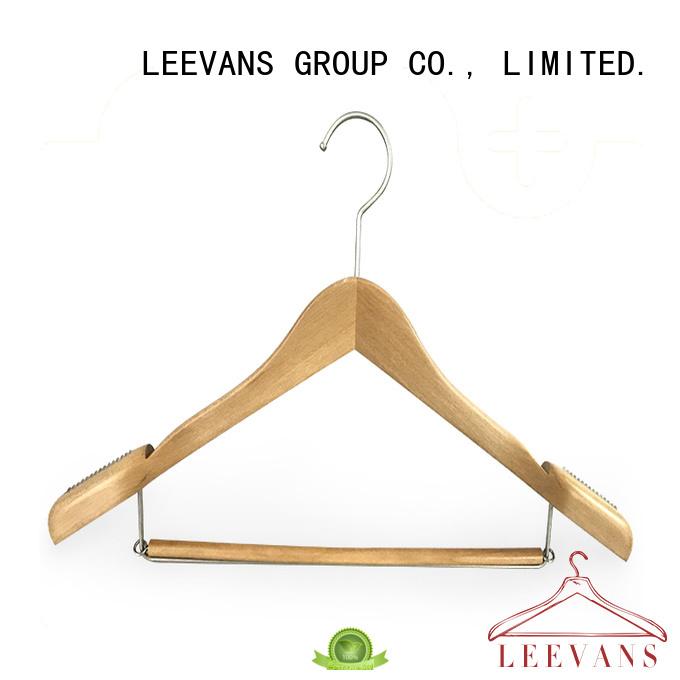 wooden cloth hanger adult for pants LEEVANS
