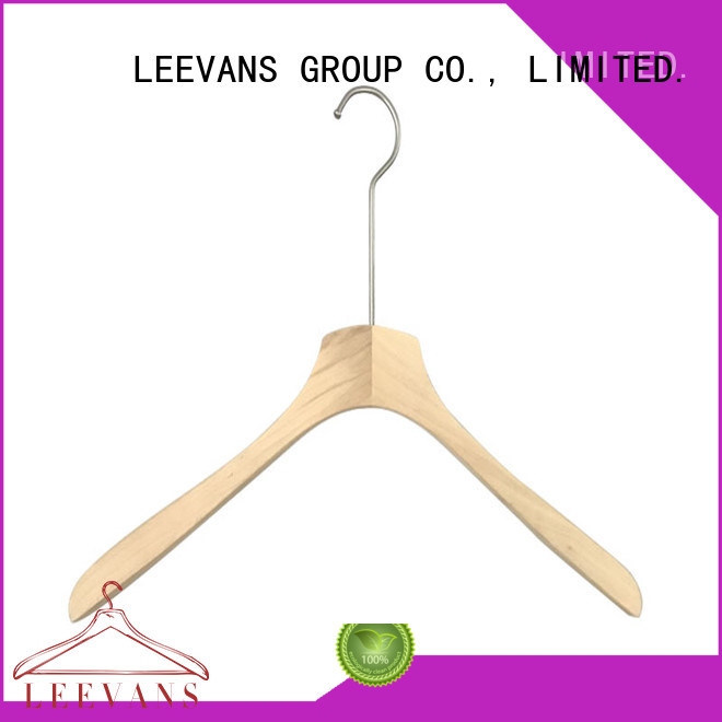LEEVANS clothes wooden clothes hanger manufacturer for clothes