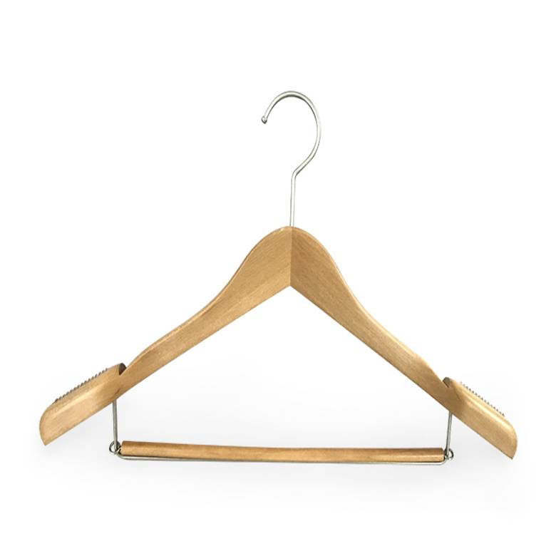 hotel wooden trouser hanger manufacturer for trouser