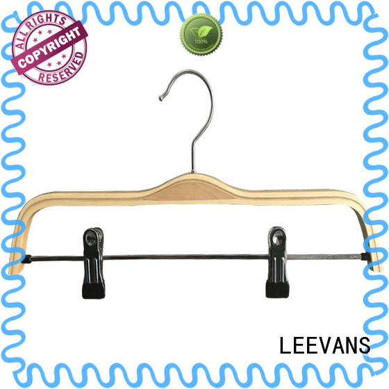 LEEVANS Wholesale black wooden hangers wholesale factory for clothes