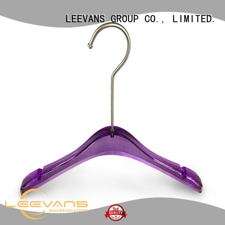 clothes decorative clothes hangers with wide shoulder for T-shirts LEEVANS