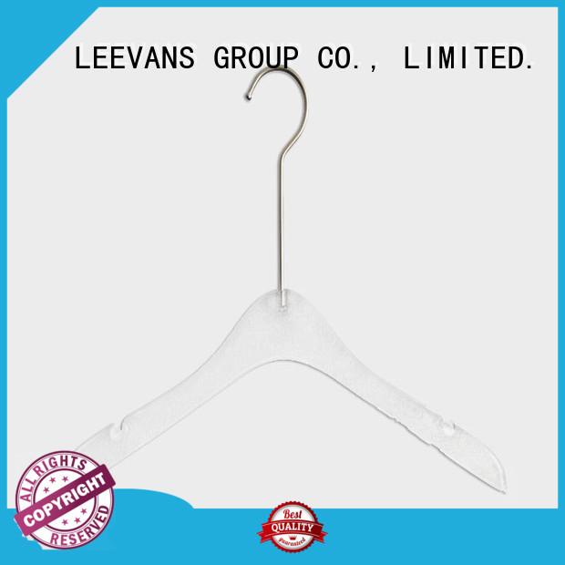 shoulder acrylic coat hangers manufacturer for casuals LEEVANS