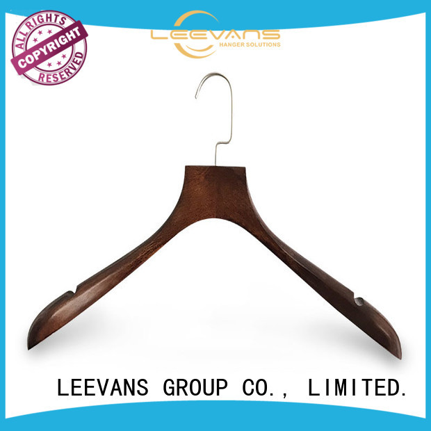 Latest discount wooden hangers logo company for pants